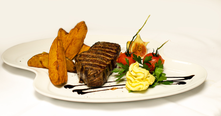 Ein leckeres, saftiges Steak